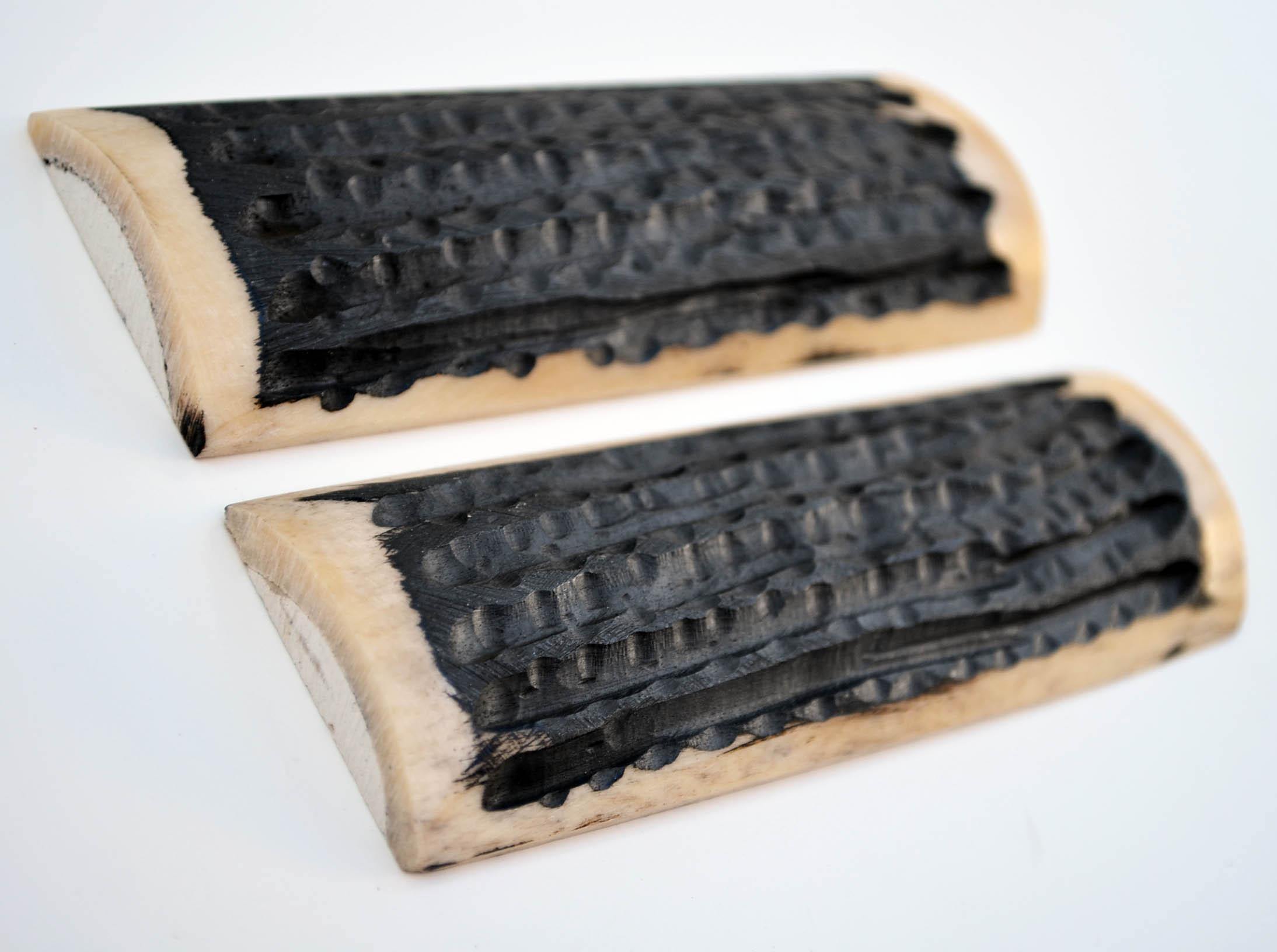Blanksandblades Com 5 Inch Black And White Bone Jigged