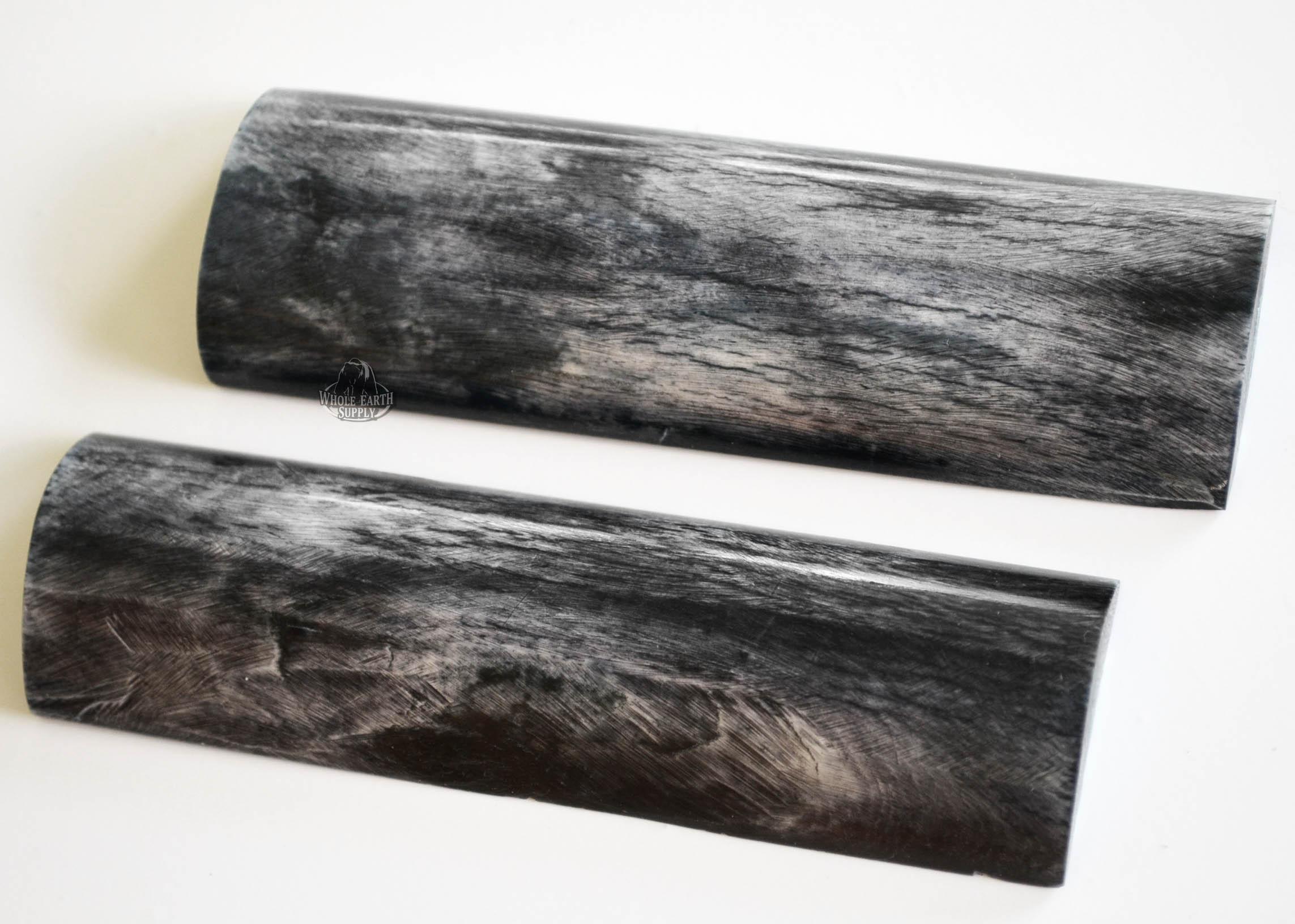 Blanksandblades Com 5 Inch Smooth Black Amp White Bone Top